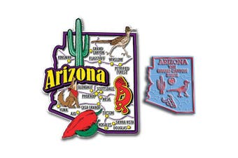 Jumbo & Small State Map Magnet Set - Arizona