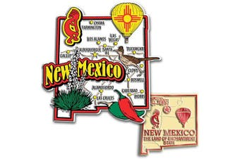 Jumbo & Small State Map Magnet Set - New Mexico