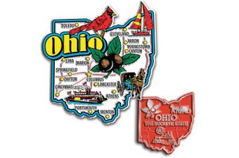 Jumbo & Small State Map Magnet Set - Ohio