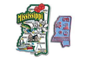 Jumbo & Small State Map Magnet Set - Mississippi