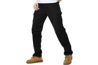 (34W x 33L, black#k1005) - AYG Mens Warm Cargo Trousers Polar Fleece Thickened Cargo Camo Pants Combat Wiast 29-40
