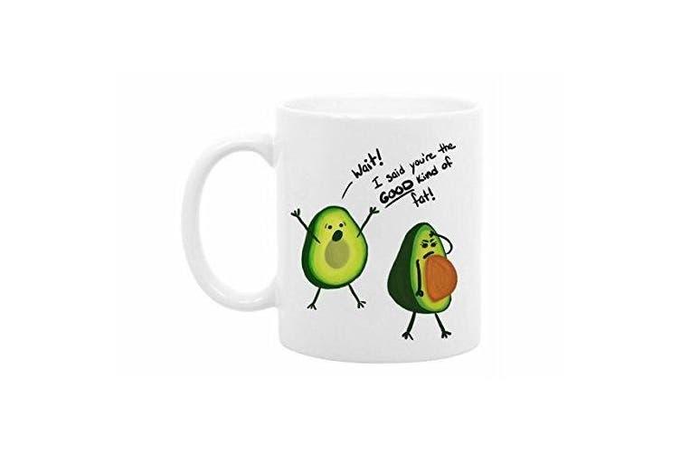 The Coffee Corner - Funny Avocado Mug - 330ml White Ceramic - Perfect valentines day gifts for boyfriend - girlfriend - wife - husband - partner