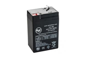 National Power GS012P3LL 6V 4.5Ah Emergency Light Battery - This is an AJC Brand® Replacement
