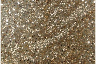 Christmas Concepts® Copper Sequin Round Table Cloth - 90cm - Wedding / Party Decoration - Luxury Wedding Decoration