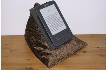 (Chocolate) - Edge Beanbags Techbed - Beanbag Cushion Tablet Stand for iPad, iPad Mini, 23cm and 18cm tablets, ebook readers and books