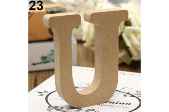 (U) - bjduck99 Craft Wooden Letters A-Z Alphabet Hanging Wedding Bridal Party Home Ornament