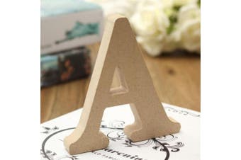 (A) - bjduck99 Craft Wooden Letters A-Z Alphabet Hanging Wedding Bridal Party Home Ornament