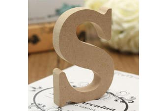 (Small) - bjduck99 Craft Wooden Letters A-Z Alphabet Hanging Wedding Bridal Party Home Ornament