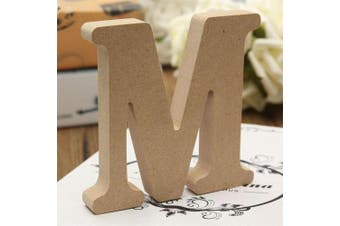 (Medium) - bjduck99 Craft Wooden Letters A-Z Alphabet Hanging Wedding Bridal Party Home Ornament