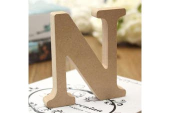 (N) - bjduck99 Craft Wooden Letters A-Z Alphabet Hanging Wedding Bridal Party Home Ornament