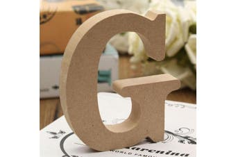 (G) - bjduck99 Craft Wooden Letters A-Z Alphabet Hanging Wedding Bridal Party Home Ornament