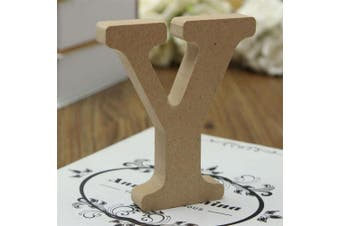 (Y) - bjduck99 Craft Wooden Letters A-Z Alphabet Hanging Wedding Bridal Party Home Ornament