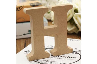 (H) - bjduck99 Craft Wooden Letters A-Z Alphabet Hanging Wedding Bridal Party Home Ornament