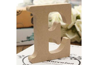 (E) - bjduck99 Craft Wooden Letters A-Z Alphabet Hanging Wedding Bridal Party Home Ornament