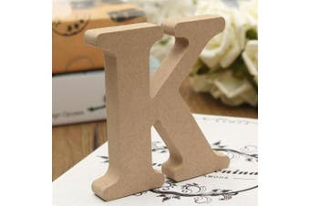 (K) - bjduck99 Craft Wooden Letters A-Z Alphabet Hanging Wedding Bridal Party Home Ornament