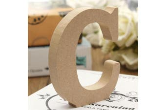(C) - bjduck99 Craft Wooden Letters A-Z Alphabet Hanging Wedding Bridal Party Home Ornament