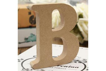 (B) - bjduck99 Craft Wooden Letters A-Z Alphabet Hanging Wedding Bridal Party Home Ornament