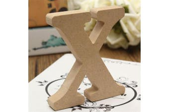 (X) - bjduck99 Craft Wooden Letters A-Z Alphabet Hanging Wedding Bridal Party Home Ornament