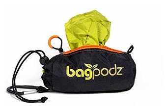 (5 bags, Spring Green) - BagPodz Reusable Bag and Storage System - Spring Green