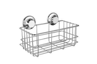 (Deep Caddy) - IPEGTOP Rustproof Stainless Steel Shower Caddy - Bath Shelf Storage Deep Basket Shampoo Shower Gel Holder - for Kitchen Bathroom - Rotate & Lock Suction Cups