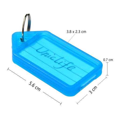 (Key Tags) - UnicLife 20 PCS Key ID Label Tags Colour Keyring Holder Tags with Label Window, Assorted Colours Size Name: Key Tags