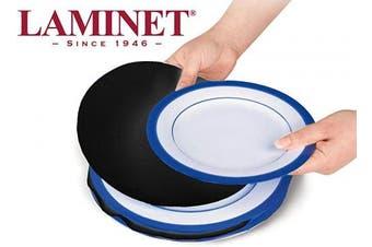 (Felt Plate Dividers - (Set of 48), Black-F) - LAMINET Felt Dividers - BLACK - Set of 48 - Includes (12) 25cm Diameter Dinner Plate Dividers, (24) 15cm Diameter Salad/Dessert Plate Dividers, (12) 11cm Diameter Saucer/Bread & Butter Plate Dividers