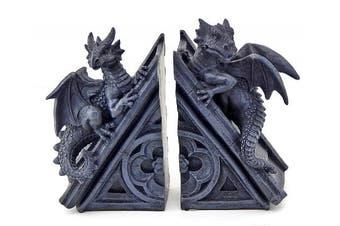 Decorative Bookends Gothic Castle Dragons Sculptural Book Ends
