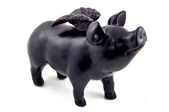 Whimsical Flying Pig Statue 18cm Inches