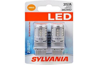 SYLVANIA 3157 Amber LED Bulb, (Contains 2 Bulbs)