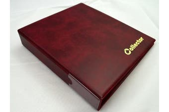 Collector Coin Album for 221 mix sizes coins from small till large coin - with pages and red dividers + index - RED