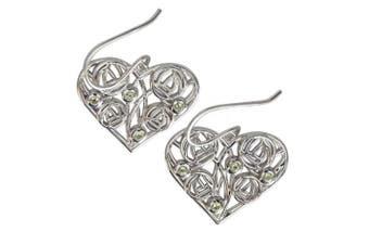 175 d Charles Rennie Mackintosh Silver Earrings - Homeland - 8 Peridots. Tarnish Resistant.