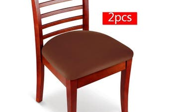 (2, Coffee) - Boshen Elastic Spandex Chair Stretch Seat Covers Protector for Dining Room Kitchen Chairs Stretchable 2 4 6PCS (Coffee, 2)