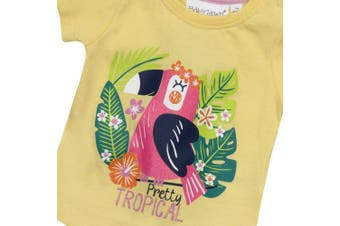 (9-12 Months, Yellow) - BABY TOWN Baby Girls Printed T-Shirts (Multibuy Options) Cotton Rich Novelty Top