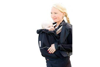 (black/black, Deluxe Cover Flex (Winter cover)) - Manduca by MaM Deluxe Cover Flex (Winter Cover) _ Black _ Extra Warm Triple Layer Carry Cover, Innovative Belt System, Removable Baby Hat (Pixie Elephant Hood), One Size, Plain Black