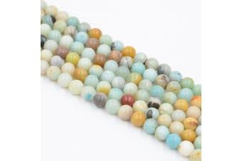 (10mm, Amazonite) - Asingeloo Amazonite Natural Gemstone Loose Beads 10mm Crystal Energy Stone Healing Power for Jewellery Making