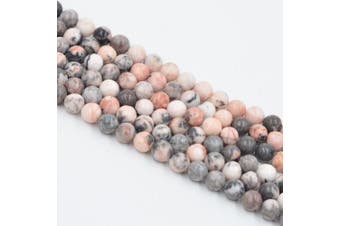 (4mm, Pink Zebra) - Asingeloo Pink Zebra Jasper Natural Gemstone Loose Beads 4mm Crystal Energy Stone Healing Power for Jewellery Making