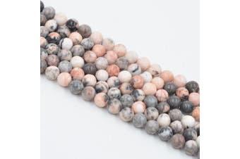 (6mm, Pink Zebra) - Asingeloo Pink Zebra Jasper Natural Gemstone Loose Beads 6mm Crystal Energy Stone Healing Power for Jewellery Making