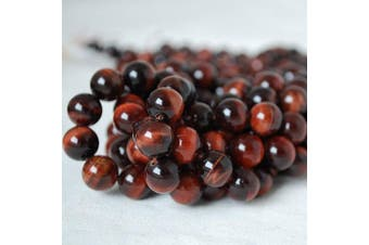 """(4mm (98 - 102 beads)) - High Quality Grade A Natural Red Tigers Eye Semi-precious Gemstone Round Beads - 4mm (98 - 102 beads) - 15.5"""" strand"""
