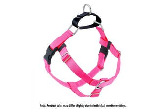(Hot Pink) - 2 Hounds Design Freedom No-Pull No Leash Harness Only, 2.5cm , X-Large