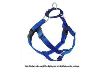 (blue) - 2 Hounds Design Freedom No-Pull No Leash Harness Only, 2.5cm , Large