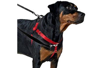 (Red) - 2 Hounds Design Freedom No-Pull No Leash Harness Only, 1.6cm , X-Small