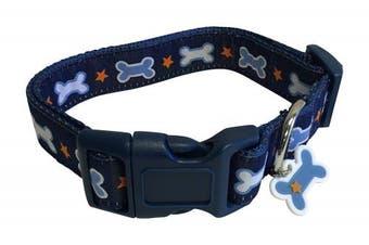 Top Paw Dog Collar Size Small Neck 25cm - 36cm Bone Charm Stars