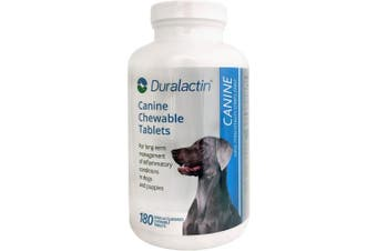Duralactin Canine 1000mg 180ct Chewable Tabs for Dogs Vanilla Flavoured