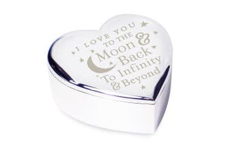 I LOVE YOU TO THE MOON & BACK TO Infinity And Beyond TRINKET BOX Gift Gifts Presents Ideas for Her Women Fiance Romantic my Girlfriend Wife Mum Grandma Birthday Christmas Valentines Day Mothers Wedding Anniversary Gifts Bride from son daughter