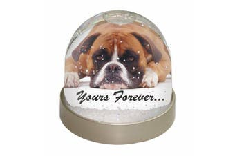 Boxer Dog 'Yours Forever' Photo Snow Globe Waterball Stocking Filler Gift