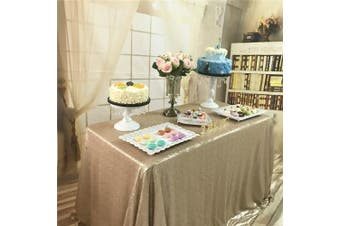 (150cm *260cm  sequin tablecloth, Champagne) - TRLYC Sequin Rectangular Champagne Sequin Tablecloth 150cm by 260cm