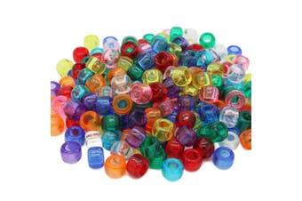 (Mix, 6 x 8 mm) - Beads Unlimited Transparent Plastic Barrel Pony, Mix, 6 x 8 mm