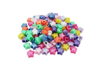 (Mix, 13 mm) - Beads Unlimited Bath Pearl Plastic Star Pony, Mix, 13 mm