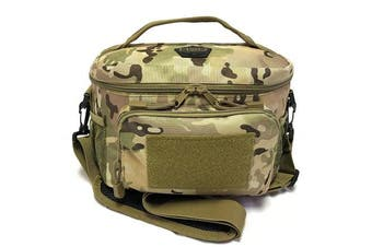 (Medium, Multicam) - HSD Lunch Bag, Insulated Cooler, Thermal Lunch Box Tote with MOLLE/PALS Webbing, Adjustable Padded Shoulder Strap, for Tactical Men Women Adults and Boys Girls Kids (Multicam)