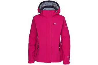 (Small, Black) - Trespass Florrisant Womens Waterproof Jacket with Inner Pocket